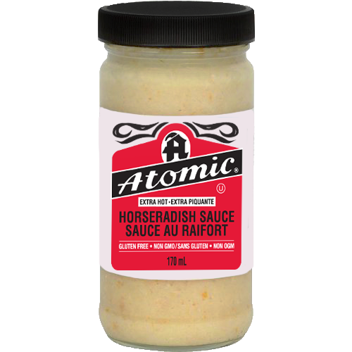 Atomic Horseradish Sauce Large 12 170ml Terra Foods